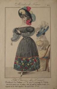 Late 1820s Modes de Paris plate