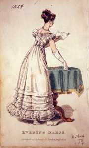 1824 Aug Evening Dress