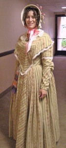 1844 Striped Dress