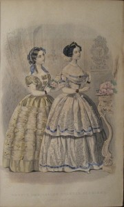 1855 Godey's Ballgowns