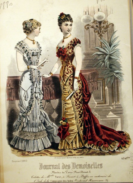 1880 February Evening Gowns