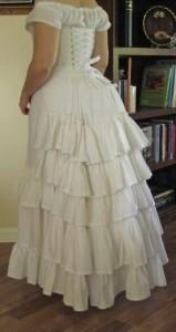Bustle Ruffled Petticoat in Muslin