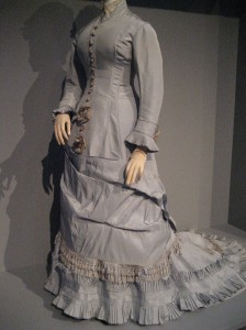 1880 Silver Dinner Gown front