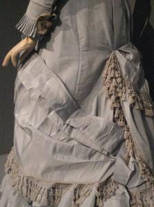 1880 Silver Dinner Gown Skirt