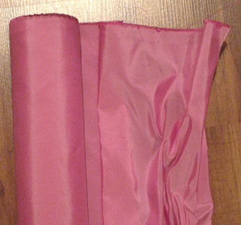 Bright pink silk taffeta