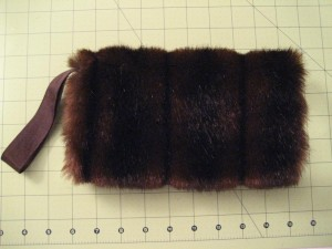 Finished Faux Fur Muff