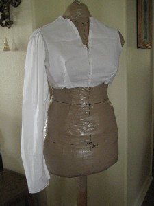 Fitted mockup on dressform