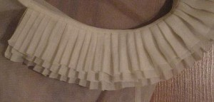 Perfect Pleated Collar in Silk Organza